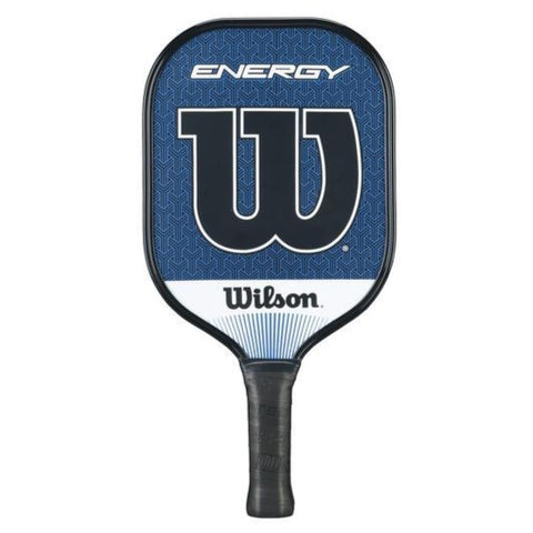 wilson energy pickleball paddle in blue
