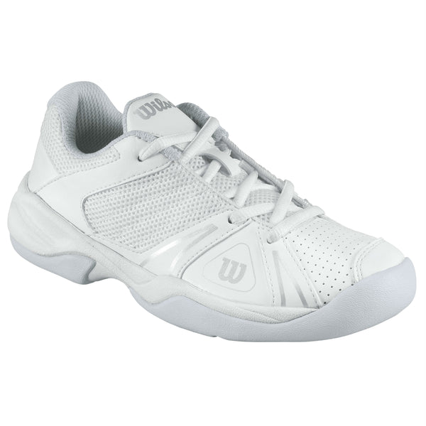 Wilson Open Junior Tennis Shoe (White/Grey/Silver) - RacquetGuys