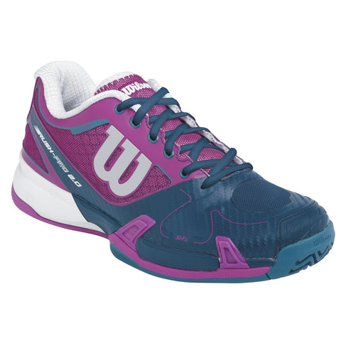 Wilson Rush Pro 2.0 Women's Tennis Shoe (Dark Pink/Teal) - RacquetGuys.ca