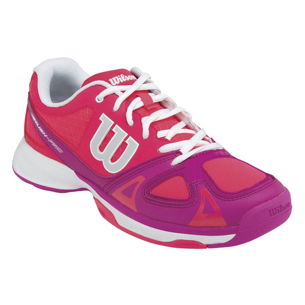 Wilson Rush Pro Junior Tennis Shoe (Neon Red/Pink) - RacquetGuys