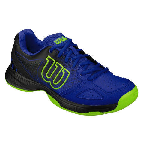 Wilson Kaos Comp Junior Tennis Shoe (Blue/Black/Lime) - RacquetGuys.ca