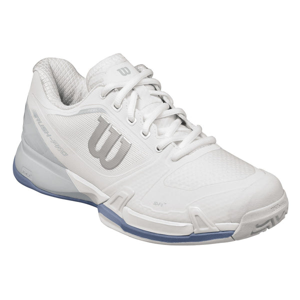 Wilson Rush Pro 2.5 Womens Tennis Shoe (White/Grey/Blue) - RacquetGuys