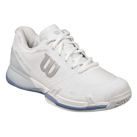 Wilson Rush Pro 2.5 Women's Tennis Shoe (White/Grey/Blue) - RacquetGuys