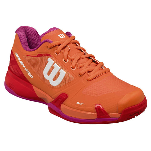 Wilson Rush Pro 2.5 Women's Tennis Shoe (Orange/Red/Violet) - RacquetGuys.ca