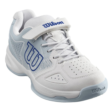 Wilson Kaos Junior Tennis Shoe (White/Blue) - RacquetGuys.ca