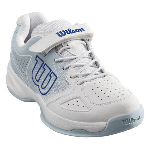 Wilson Stroke Kid's Tennis Shoe (White/Blue) - RacquetGuys