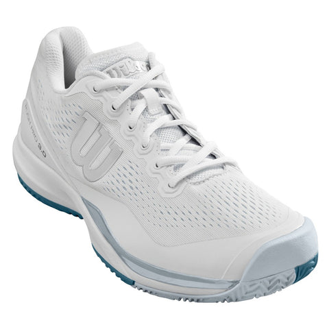 Wilson Rush Pro 3.0 Men's Tennis Shoe (White/Blue) - RacquetGuys