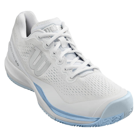 Wilson Rush Pro 3.0 Women's Tennis Shoe (White/Blue) - RacquetGuys.ca