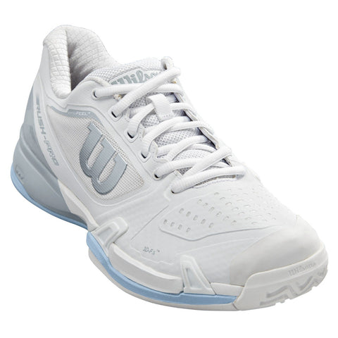 Wilson Rush Pro 2.5 Women's Tennis Shoe (White/Blue) - RacquetGuys