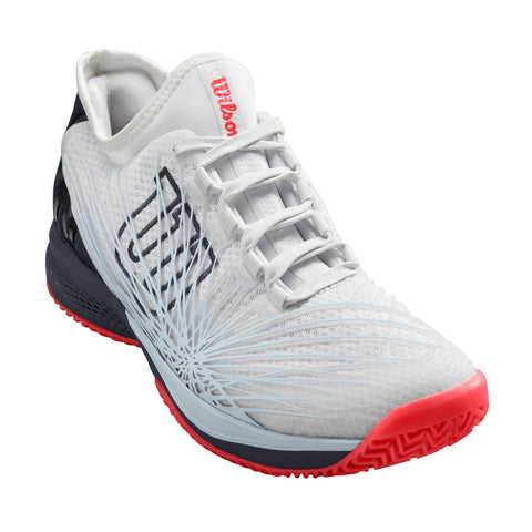 Wilson Kaos 2.0 SFT Men's Tennis Shoe (White/Black/Red) - RacquetGuys
