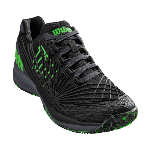 Wilson Kaos 2.0 Men's Tennis Shoe (Black/Green)