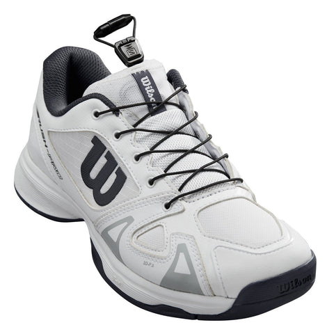 Wilson Rush Pro QL Junior Tennis Shoe (White/Black) - RacquetGuys.ca