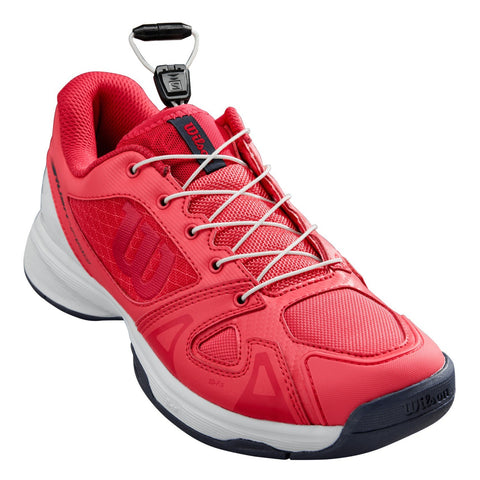 Wilson Rush Pro QL Junior Tennis Shoe (White/Pink) - RacquetGuys.ca