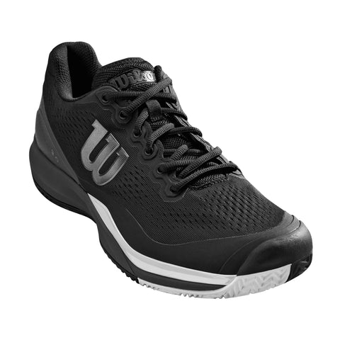 Wilson Rush Pro 3.0 Men's Tennis Shoe (Black/White) - RacquetGuys