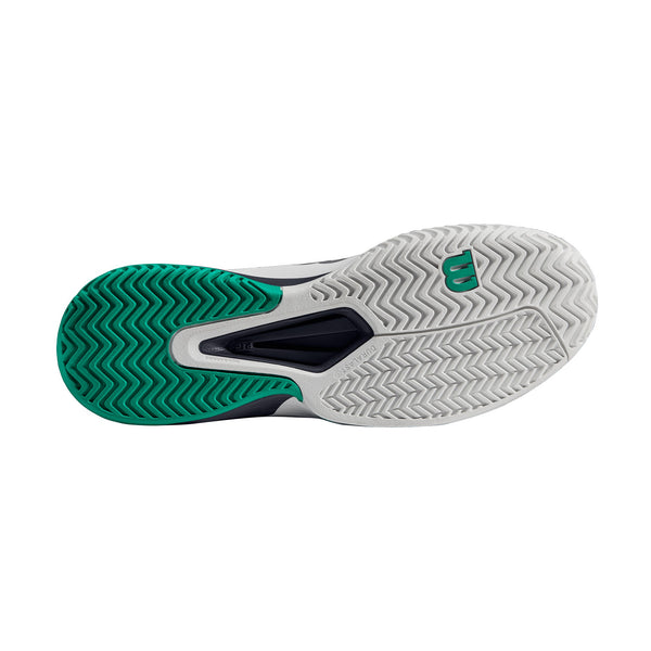 Wilson Rush Pro 2.5 Men's Tennis Shoe (White/Green) - RacquetGuys