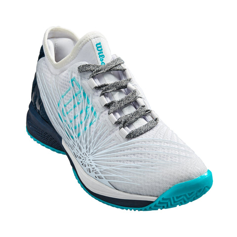 Wilson Kaos 2.0 SFT Women's Tennis Shoe (White/Blue)