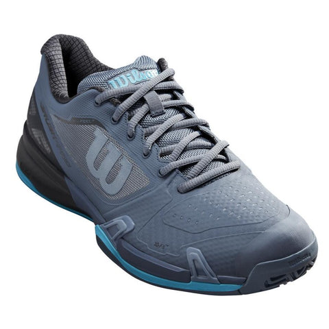 Wilson Rush Pro 2.5 Men's Tennis Shoe (Grey/Aqua) - RacquetGuys