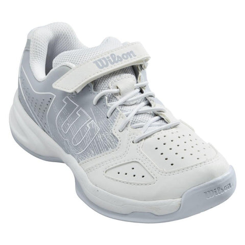 Wilson Kaos Junior Tennis Shoe (White/Pearl Blue) - RacquetGuys.ca