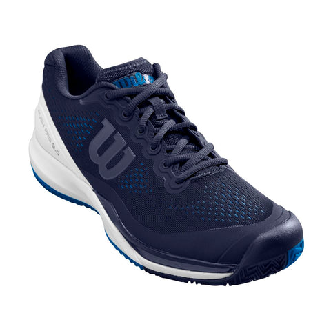 Wilson Rush Pro 3.0 Men's Tennis Shoe (Blue/White) - RacquetGuys