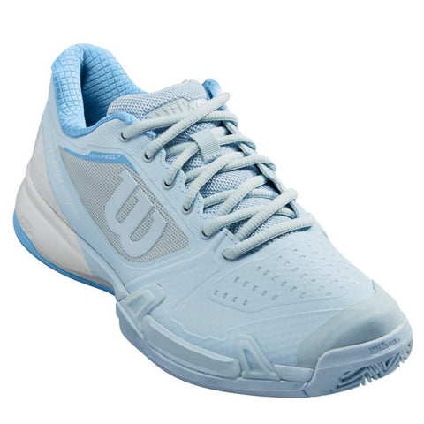 Wilson Rush Pro 2.5 Women's Tennis Shoe (White/Sky Blue) - RacquetGuys