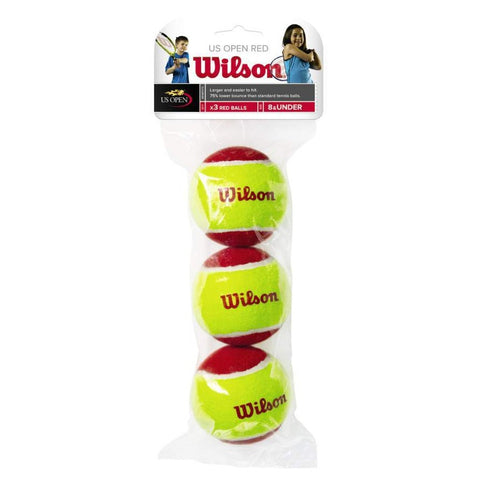 Wilson Starter Easy 36' Red Felt Junior Tennis Balls 3-Pack - RacquetGuys