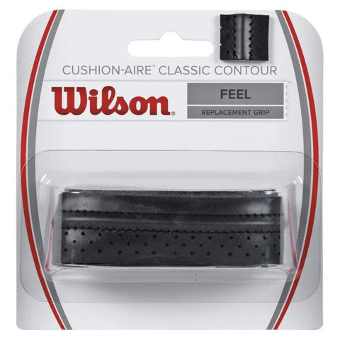 Wilson Cushion-Aire Classic Contour Replacement Grip (Black) - RacquetGuys.ca