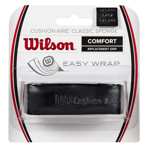 Wilson Cushion-Aire Classic Sponge Replacement Grip (Black) - RacquetGuys.ca