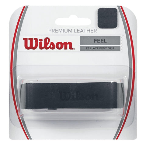 Wilson Leather Replacement Grip (Black) - RacquetGuys