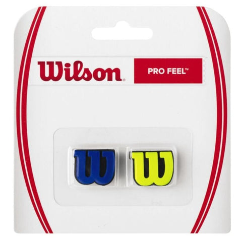Wilson Pro Feel Vibration Dampener (Blue/Yellow) - RacquetGuys