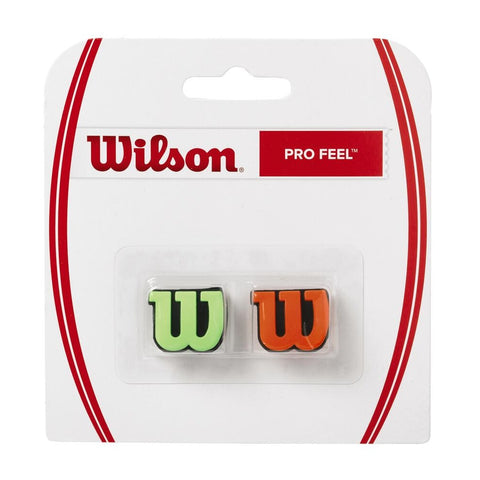 Wilson Pro Feel Vibration Dampener (Green/Orange) - RacquetGuys