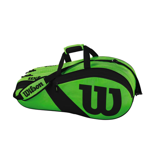 Wilson Match III 6 Pack Racquet Bag (Green/Black)