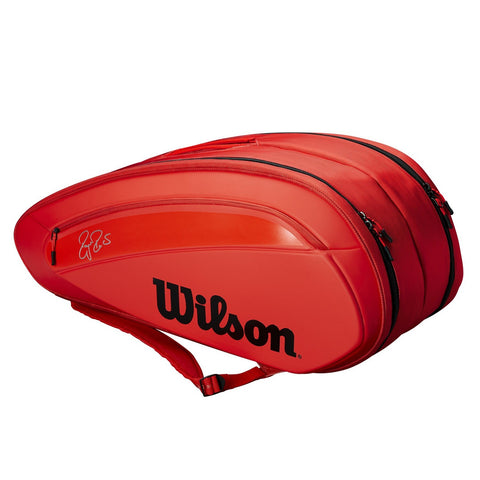 Wilson Federer DNA 12 Pack Racquet Bag (Red) - RacquetGuys