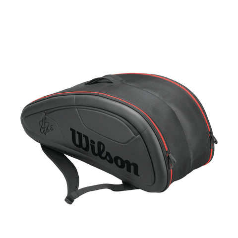Wilson Roger Federer DNA 12 Pack Racquet Bag (Black/Red)
