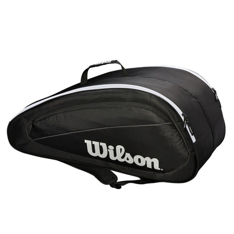Wilson Federer Team 12-Pack Tennis Bag (Black) - RacquetGuys
