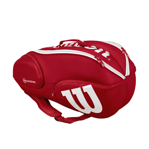 Wilson Pro Staff 9 Pack Racquet Bag (Red/White) - RacquetGuys