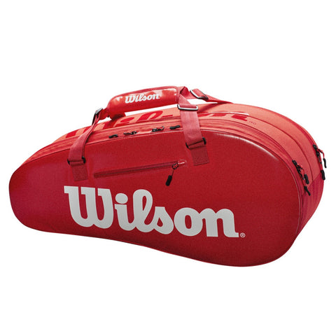 Wilson Super Tour 2 Compartment 6 Pack Racquet Bag (InfraRed) - RacquetGuys.ca
