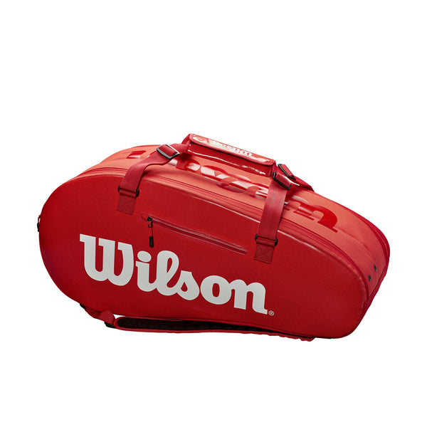 Wilson Super Tour 2 Compartment 9 Pack Racquet Bag (InfraRed) - RacquetGuys.ca