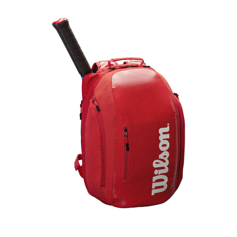 Wilson Super Tour Backpack Racquet Bag (InfraRED) - RacquetGuys.ca