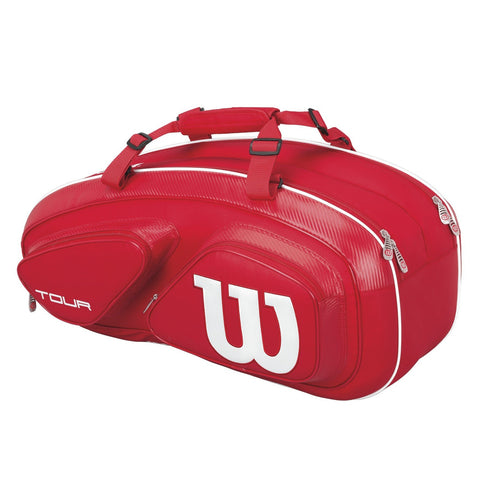 Wilson Tour V 6-Pack Racquet Bag (Red)