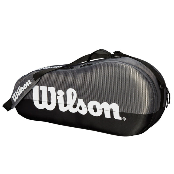 Wilson Team 1 Compartment 3 Pack Tennis Bag (Grey/Black) - RacquetGuys