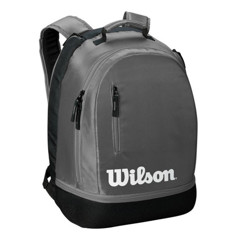 Wilson Team Backpack Racquet Bag (Grey/Black) - RacquetGuys