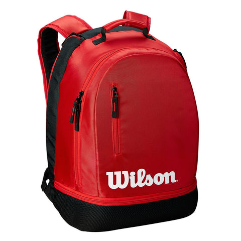 Wilson Team Backpack Racquet Bag (Red/Black) - RacquetGuys.ca