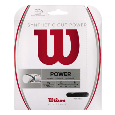 Wilson Synthetic Gut Power 16 Tennis String (Black)