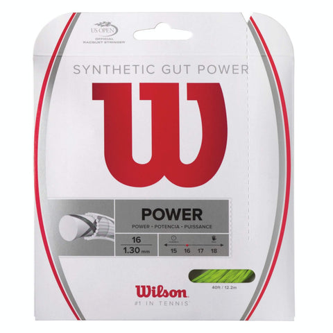 Wilson Synthetic Gut Power 16 Tennis String (Lime) - RacquetGuys