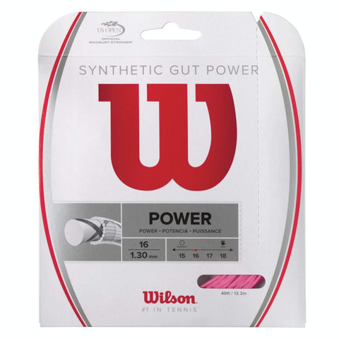 Wilson Synthetic Gut Power 16 Tennis String (Pink) - RacquetGuys