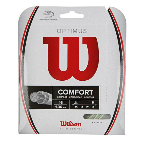 Wilson Optimus 16 Tennis String (White) - RacquetGuys