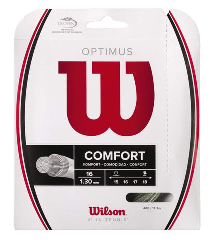 Wilson Optimus 16 Tennis String (Silver) - RacquetGuys
