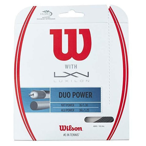 Wilson Duo Power (Luxilon ALU Power 16L / Wilson NXT Power 16) Hybrid Tennis String - RacquetGuys