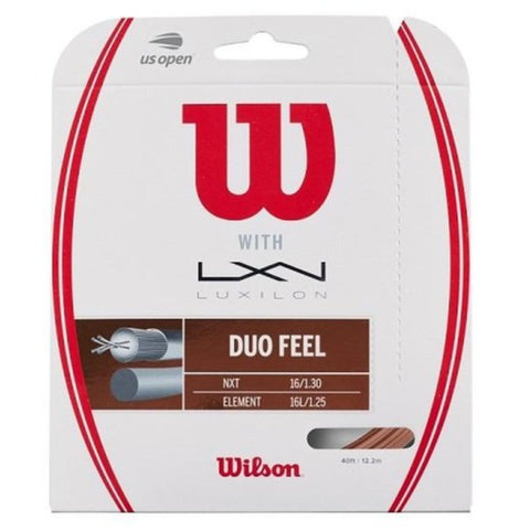 WIlson Duo Feel Luxilon Element 16L & Wilson NXT 16 Hybrid Tennis String - RacquetGuys