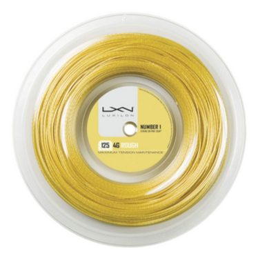 Luxilon 4G Rough 16L Tennis String Reel (Gold) - RacquetGuys